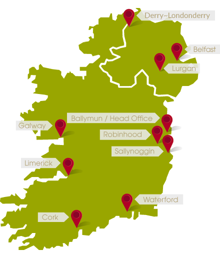 Map of Musgraves stores in Ireland